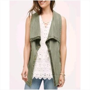 Anthropologie Marrakech Tombolo Vest Open Front